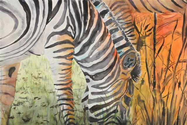 Botswana: Grazing Zebra